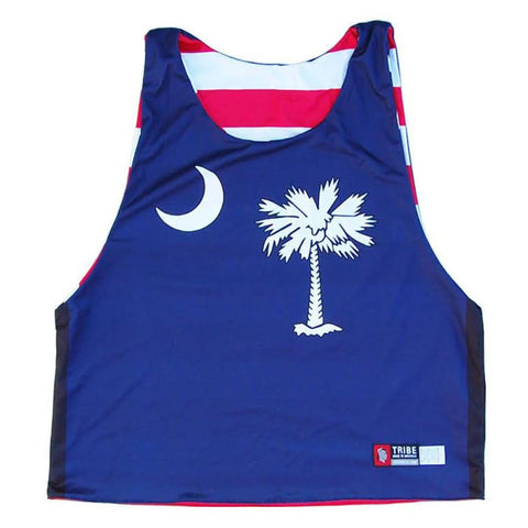 South Carolina and American Flag Sublimated Lacrosse Pinnie - Graphic Lacrosse Pinnies