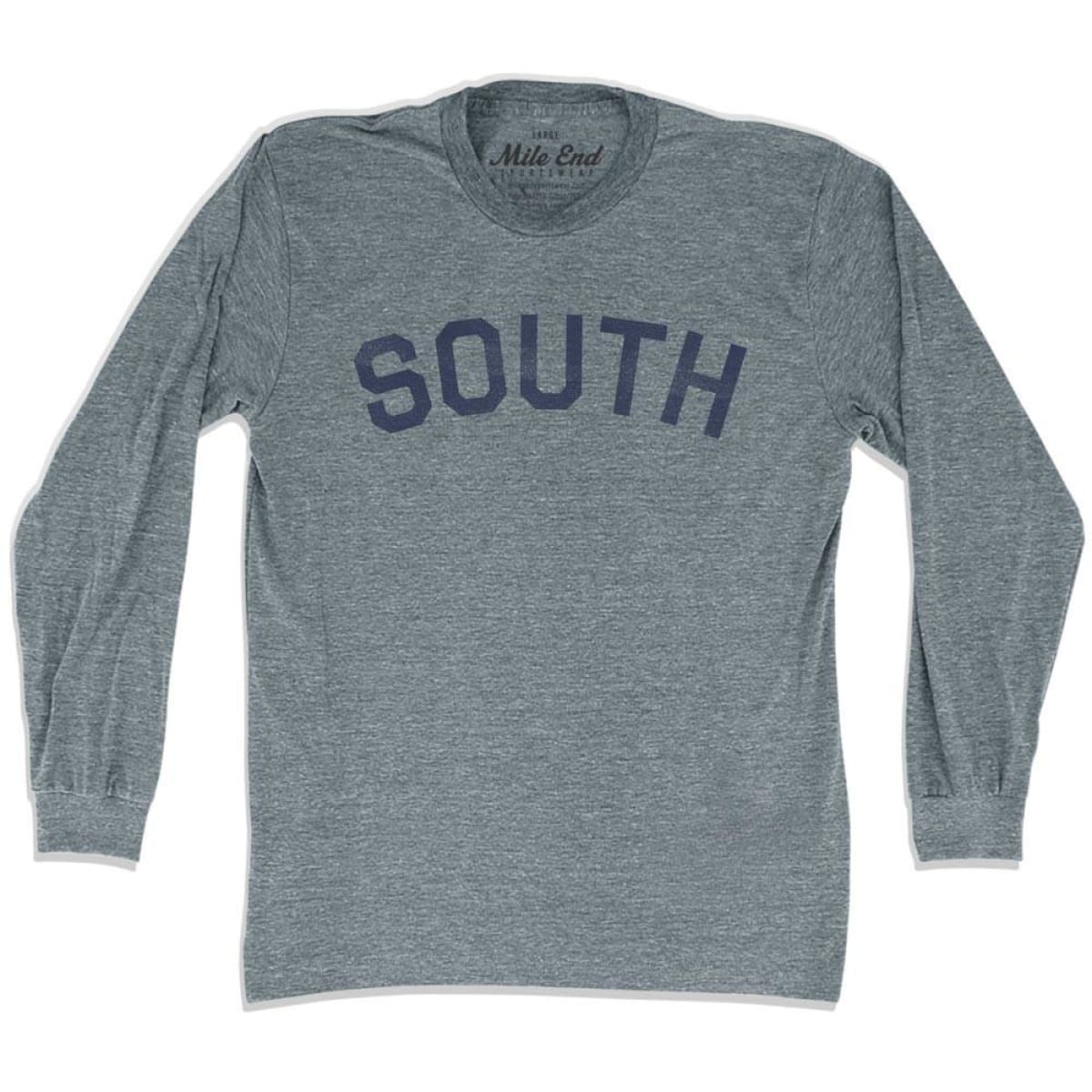 South City Vintage Long Sleeve T-shirt - Athletic Grey / Adult X-Small - Mile End City