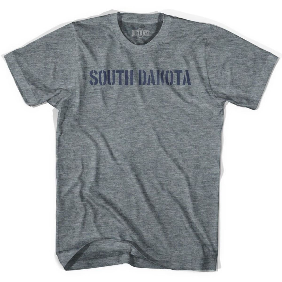 South Dakota State Stencil Youth Tri-Blend T-shirt - Athletic Grey / Youth X-Small - Stencil State
