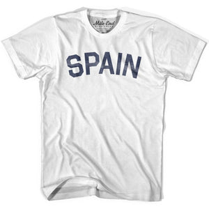 Spain City Vintage T-shirt - White / Youth X-Small - Mile End City
