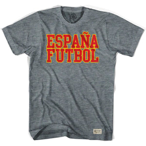 Spain Espana Futbol Nation Soccer T-shirt - Athletic Grey / Adult Small - Ultras Soccer Country T-shirts