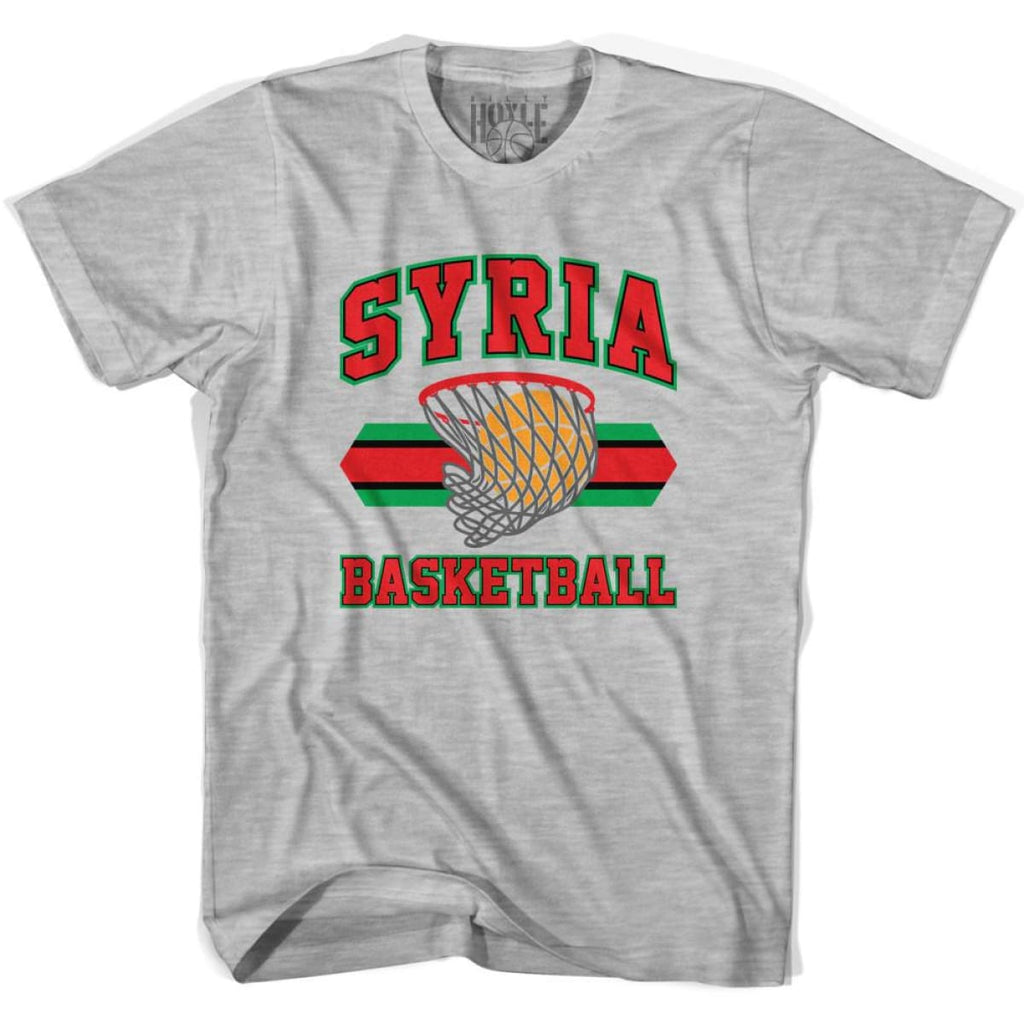 Sryia Basketball 90s Basketball T-shirt - Grey Heather / Youth X-Small - Basketball T-shirt