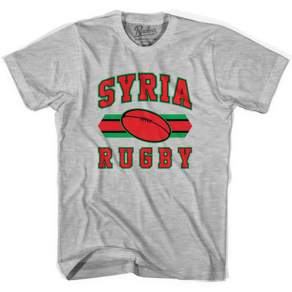 Sryia Rugby Ball 90s Rugby Ball T-shirt - Grey Heather / Youth X-Small - Rugby Sevens