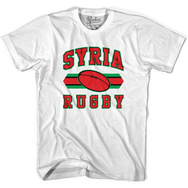 Sryia Rugby Ball 90s Rugby Ball T-shirt - White / Youth X-Small - Rugby Sevens