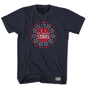 St. Louis Stars NASL Crest T-shirt - Navy / Adult Small - Ultras Vintage American Soccer T-shirts