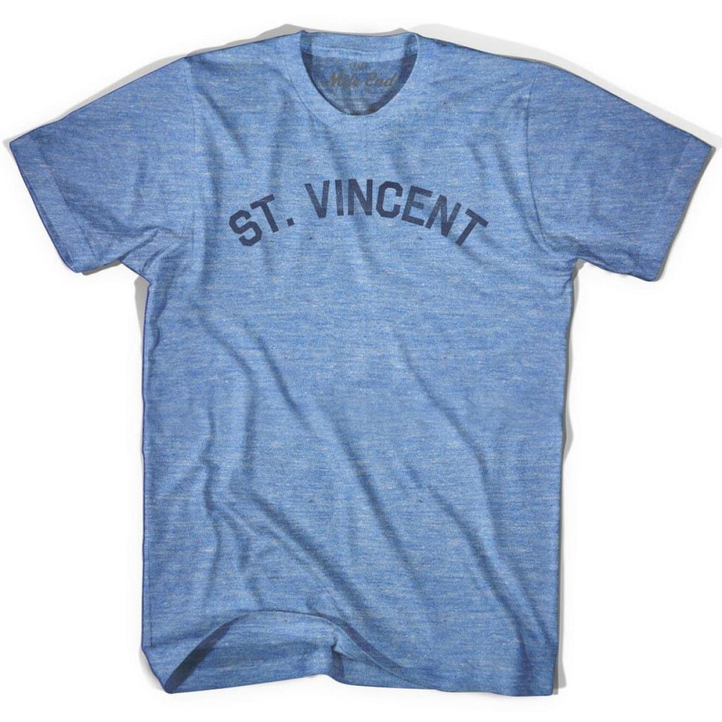 St. Vincent City Vintage T-shirt - Athletic Blue / Adult X-Small - Mile End City