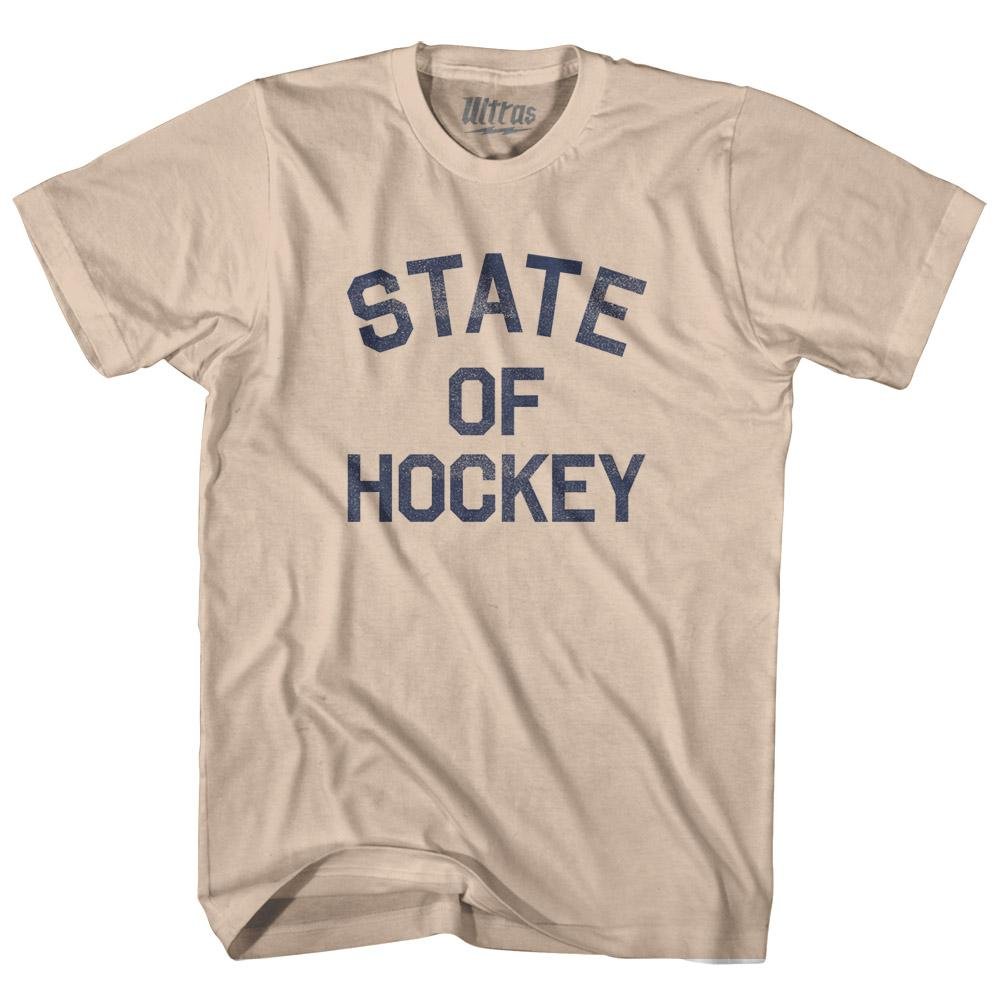 Minnesota State of Hockey Nickname Adult Cotton T-shirt by Ultras