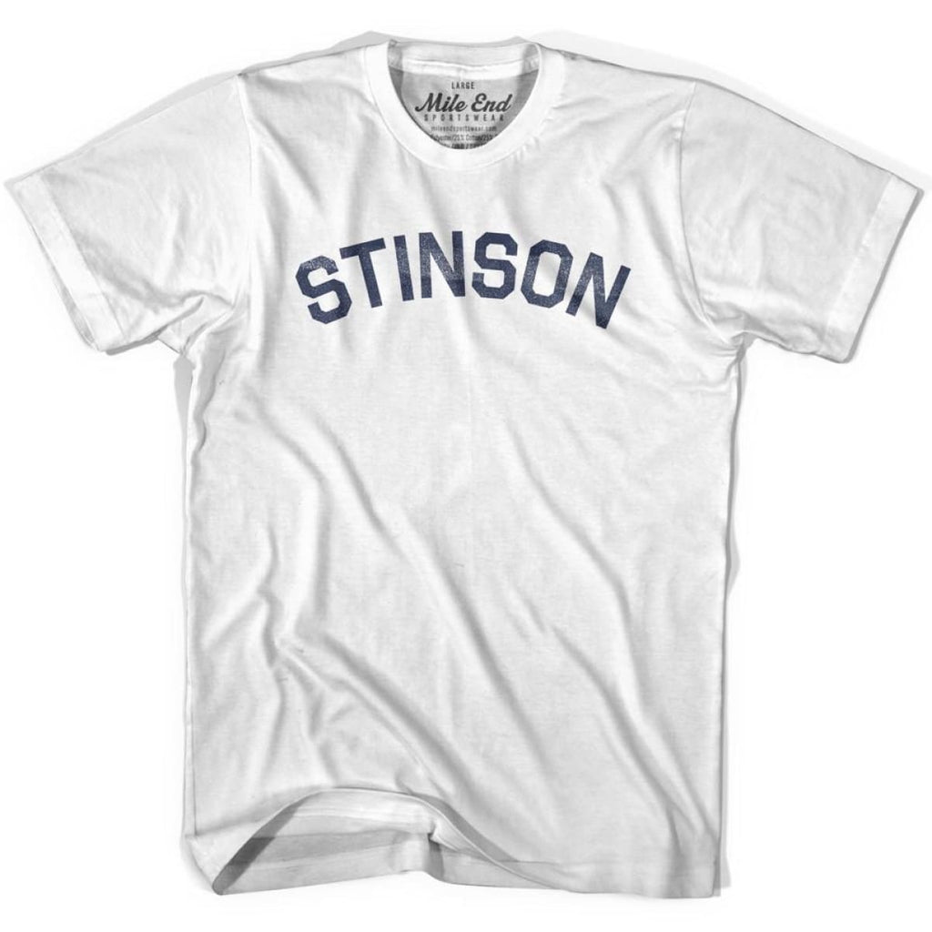 Stinson City Vintage T-shirt - White / Youth Small - Mile End City