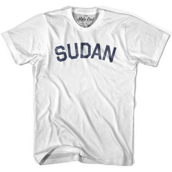 Sudan City Vintage T-shirt - White / Youth X-Small - Mile End City