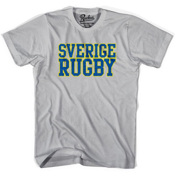 Sverige Rugby Nations T-shirt - Cool Grey / Youth Small - Rugby T-shirt