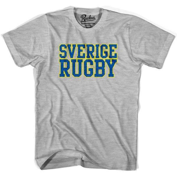 Sverige Rugby Nations T-shirt - Heather Grey / Youth X-Small - Rugby T-shirt