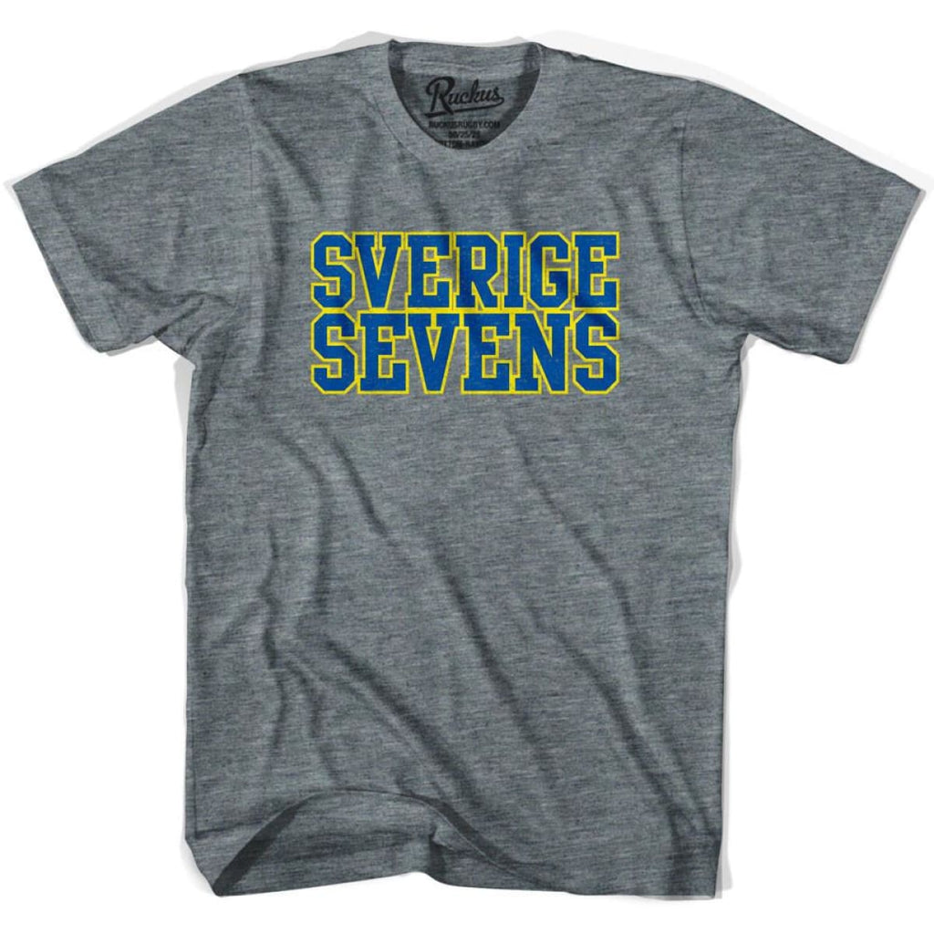 Sverige Sweden Sevens Rugby T-shirt - Athletic Grey / Adult Small - Rugby T-shirt