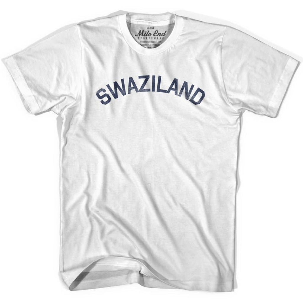Swaziland City Vintage T-shirt - White / Youth X-Small - Mile End City