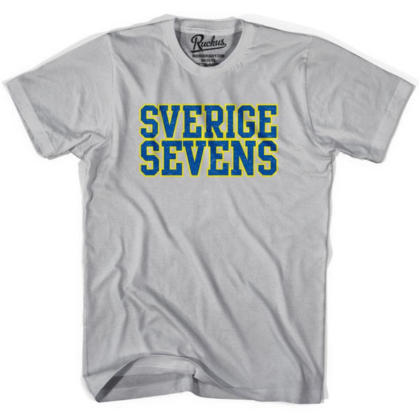 Sweden Seven Rugby Nations T-shirt - Cool Grey / Youth Small - Rugby T-shirt