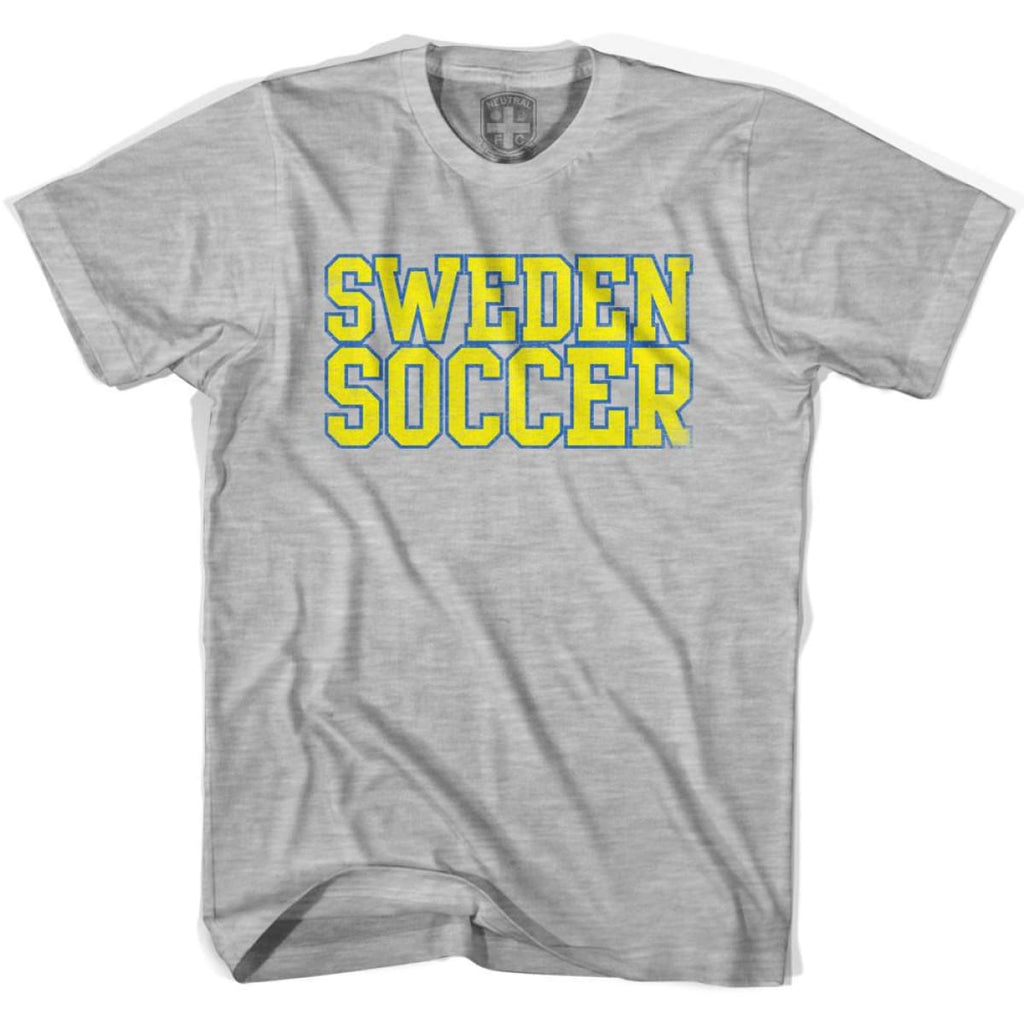 Sweden Soccer Nations World Cup T-shirt - Grey Heather / Youth X-Small - Ultras Soccer T-shirts