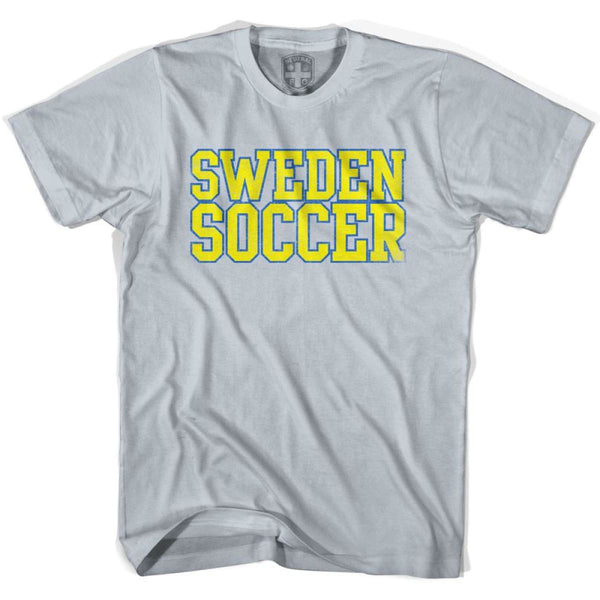 Sweden Soccer Nations World Cup T-shirt - Silver / Youth X-Small - Ultras Soccer T-shirts
