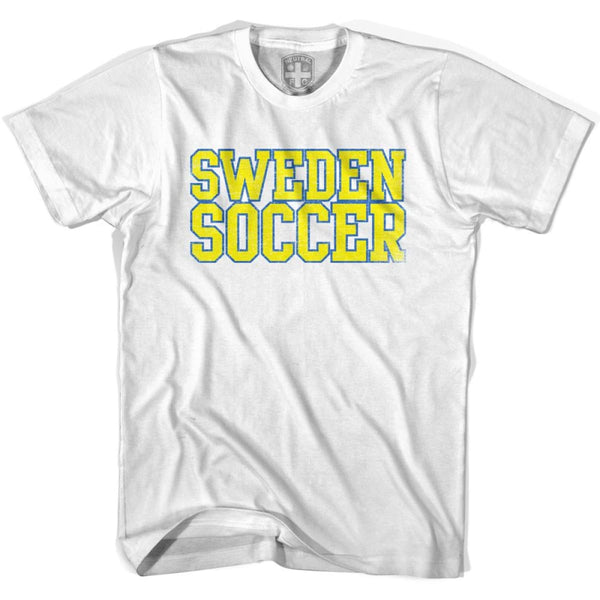 Sweden Soccer Nations World Cup T-shirt - White / Youth X-Small - Ultras Soccer T-shirts