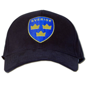 Sweden Sverige Adjustable Hat - Adjustable Hats