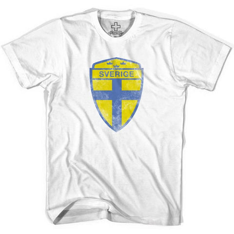 Sweden Sverige Crest T-shirt - White / Youth X-Small - Ultras Soccer T-shirts