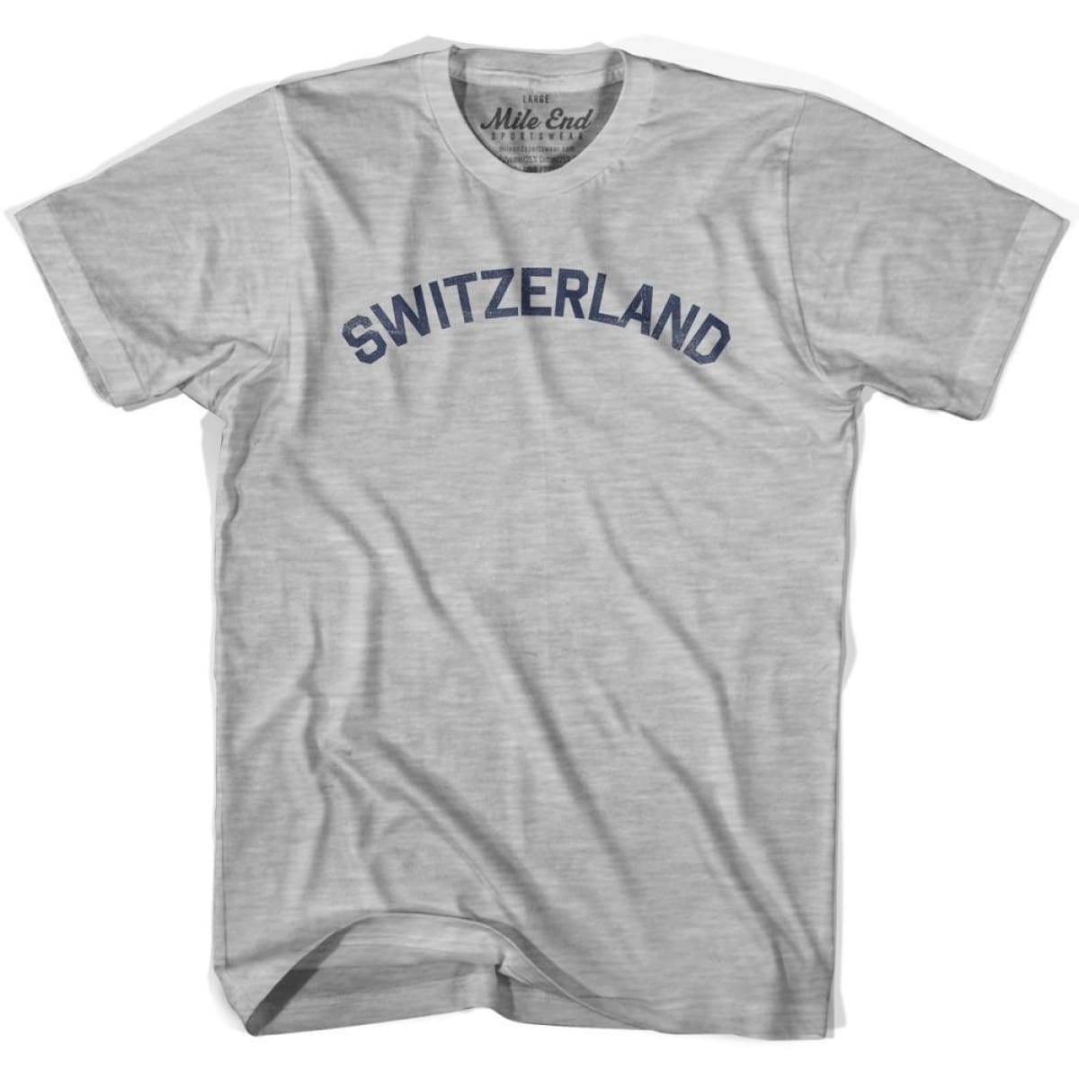 Switzerland City Vintage T-shirt - Grey Heather / Youth X-Small - Mile End City