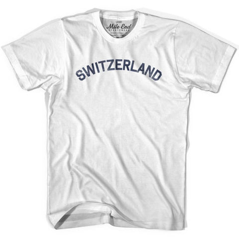 Switzerland City Vintage T-shirt - White / Youth X-Small - Mile End City