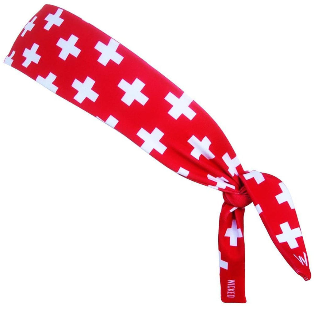 Switzerland Cross Elastic Tie 2.25 Inch Headband - Wicked Headbands