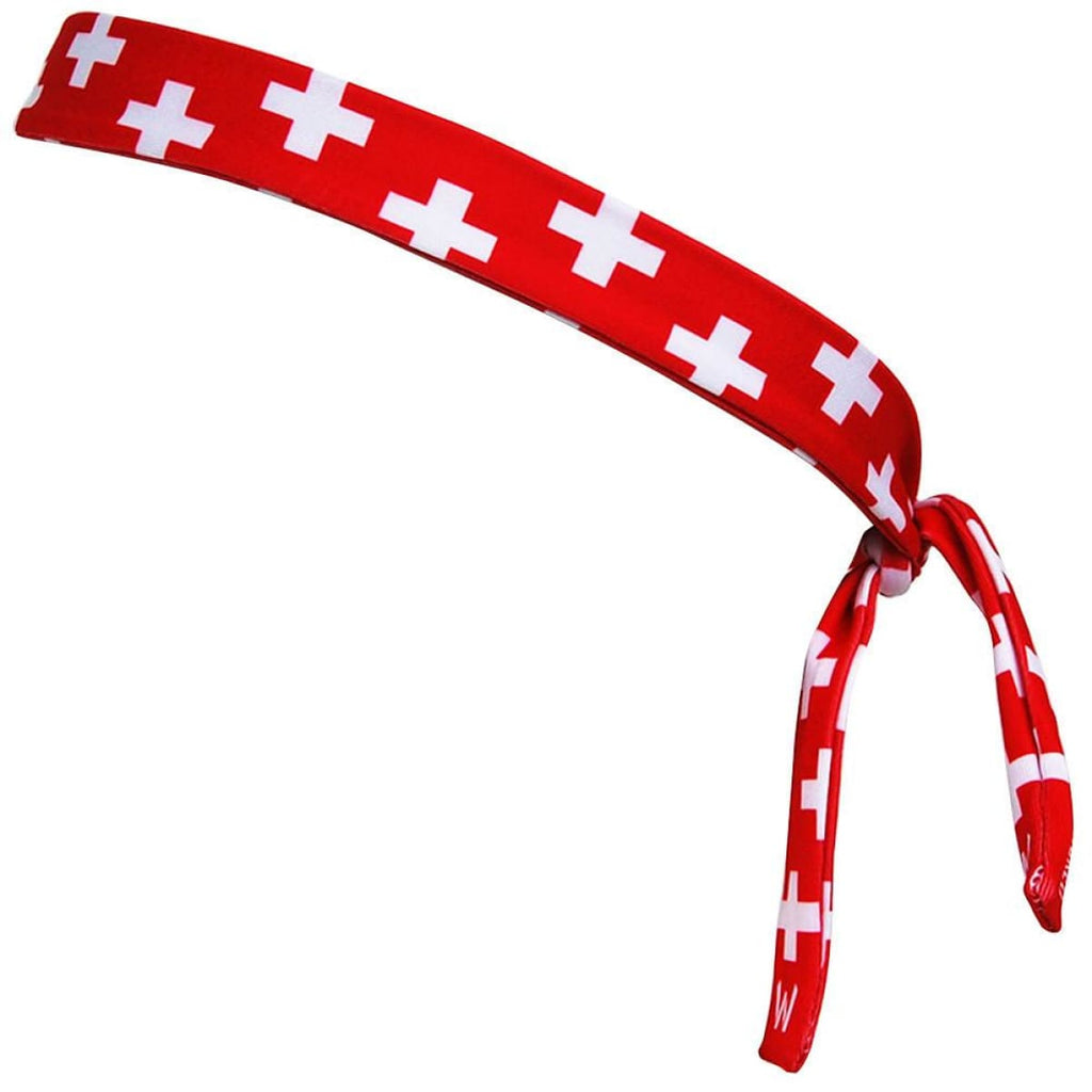 Switzerland Cross Elastic Tie Skinny 1 Headband - Wicked Headbands