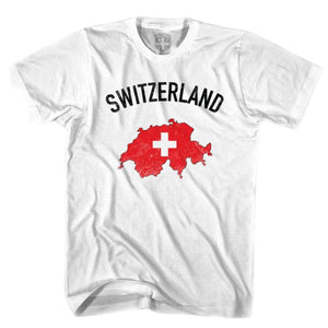 Switzerland Flag & Country T-shirt-Adult - White / Adult Small - Ultras Soccer T-shirts