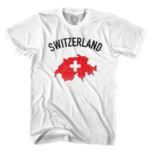 Switzerland Flag & Country T-shirt - White / Youth X-Small - Ultras Soccer T-shirts