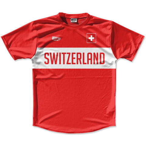Ultras Switzerland Flag Finish Line Running Cross Country Track Shirt Made In USA