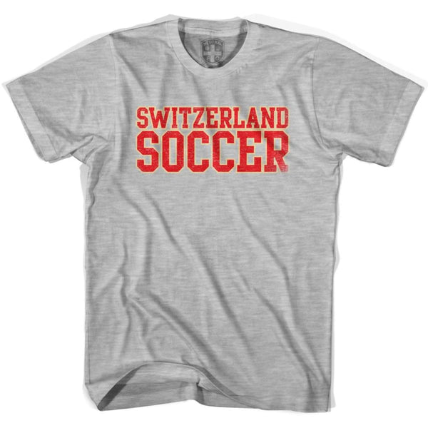 Switzerland Soccer Nations World Cup T-shirt - Grey Heather / Youth X-Small - Ultras Soccer T-shirts