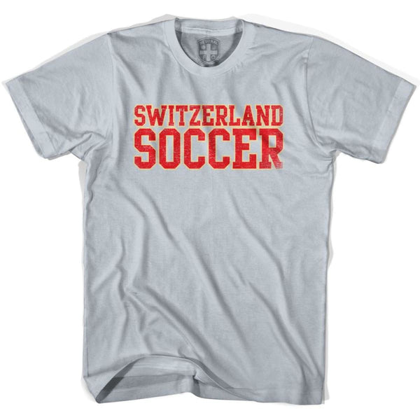 Switzerland Soccer Nations World Cup T-shirt - Silver / Youth X-Small - Ultras Soccer T-shirts