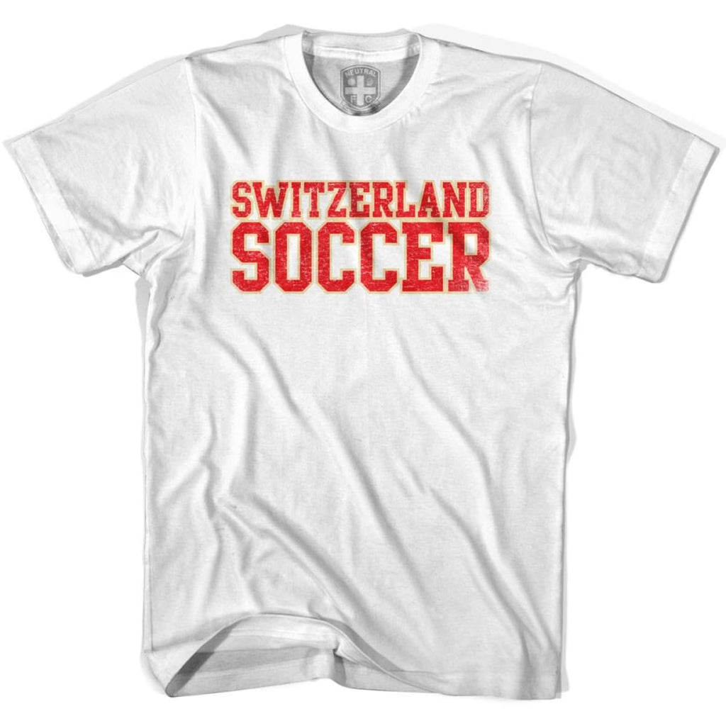 Switzerland Soccer Nations World Cup T-shirt - White / Youth X-Small - Ultras Soccer T-shirts