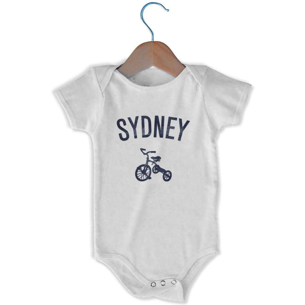 Sydney City Tricycle Infant Onesie - White / 6 - 9 Months - Mile End City