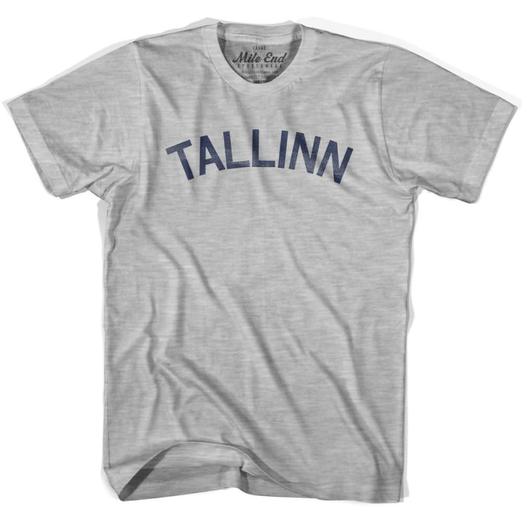 Tallinn City Vintage T-shirt - Grey Heather / Youth X-Small - Mile End City