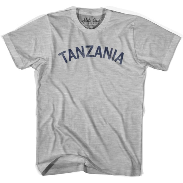 Tanzania City Vintage T-shirt - Grey Heather / Youth X-Small - Mile End City