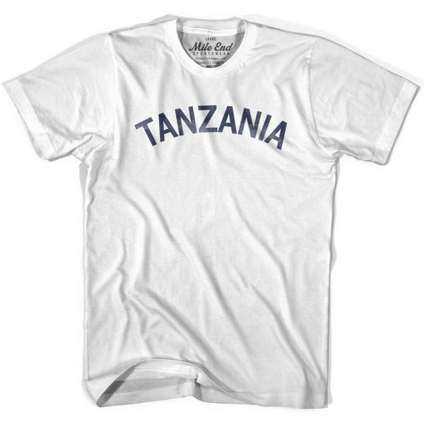 Tanzania City Vintage T-shirt - White / Youth X-Small - Mile End City