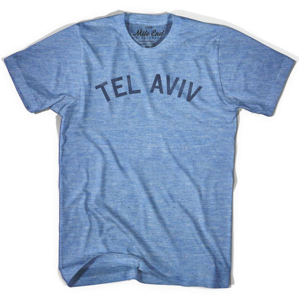 Tel Aviv City Vintage T-shirt - Athletic Blue / Adult X-Small - Mile End City