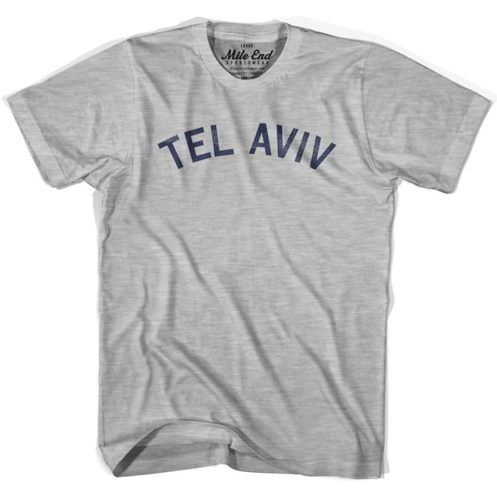 Tel Aviv City Vintage T-shirt - Grey Heather / Youth X-Small - Mile End City