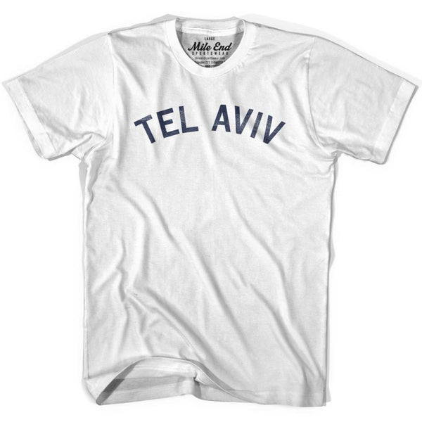Tel Aviv City Vintage T-shirt - White / Youth X-Small - Mile End City