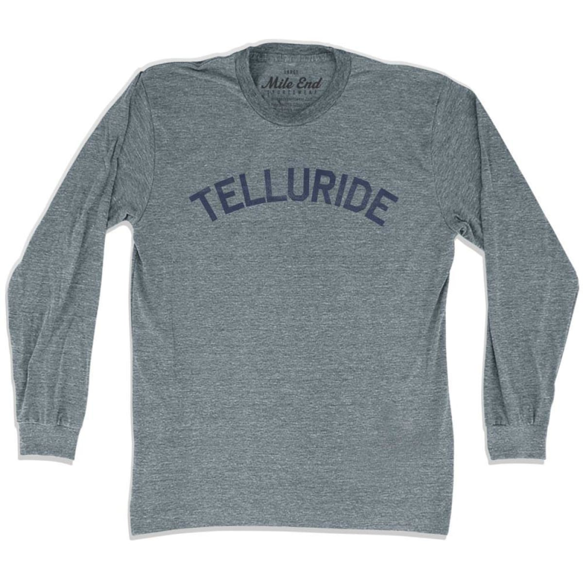Telluride City Vintage Long Sleeve T-shirt - Athletic Grey / Adult X-Small - Mile End City