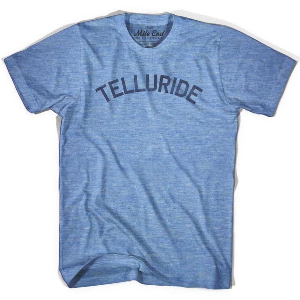 Telluride City Vintage T-shirt - Athletic Blue / Adult X-Small - Mile End City