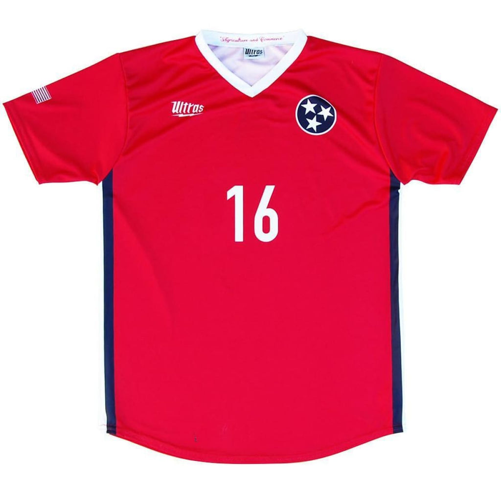 Tennessee State Cup Soccer Jersey - Red / Youth X-Small / No - Ultras State Cup Soccer Jerseys