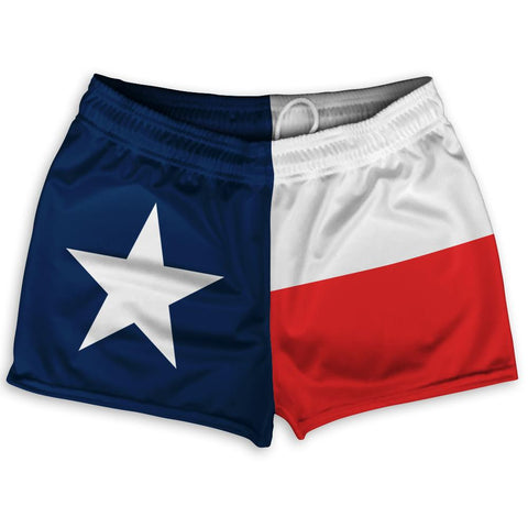 "Texas State Flag Shorty Short Gym Shorts 2.5"" Inseam by Ultras"