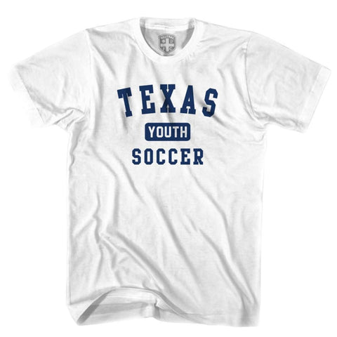 Texas Youth Soccer T-shirt - White / Youth X-Small - Ultras Soccer T-shirts