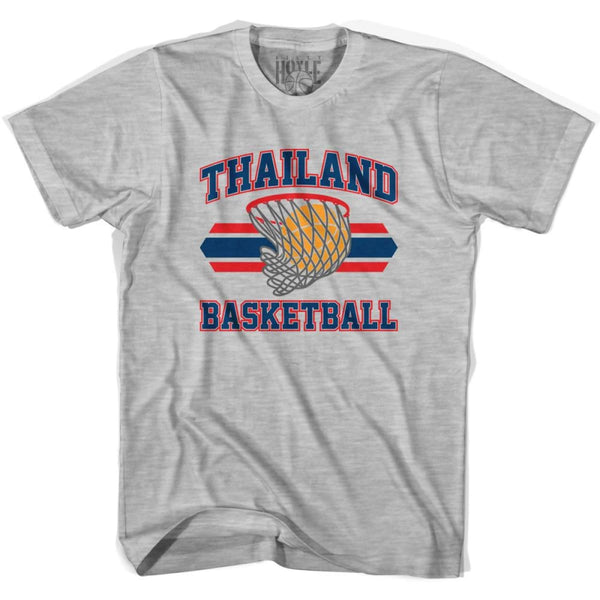 Thailand 90s Basketball T-shirts - Grey Heather / Youth X-Small - Basketball T-shirt