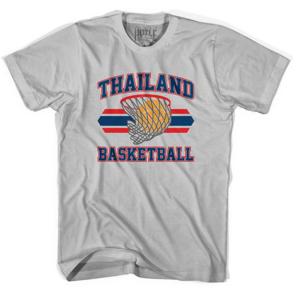 Thailand 90s Basketball T-shirts - Silver / Youth X-Small - Basketball T-shirt