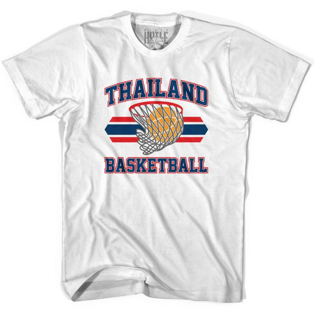 Thailand 90s Basketball T-shirts - White / Youth X-Small - Basketball T-shirt