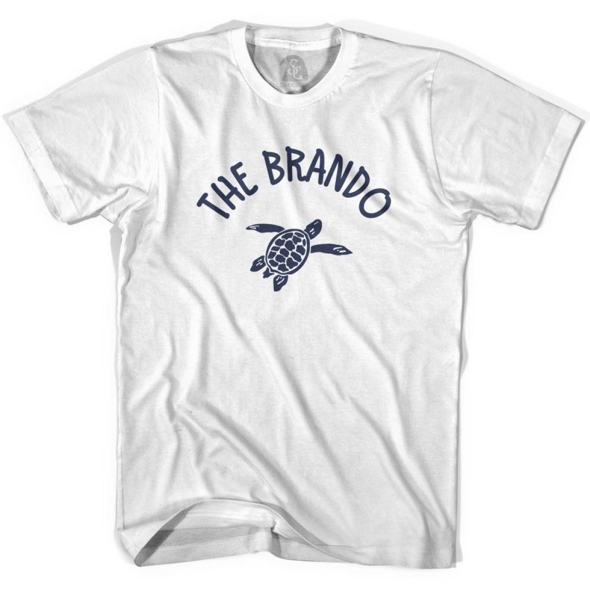 The Brando Beach Sea Turtle Adult Cotton T-shirt - White / Adult Small - Turtle T-shirts
