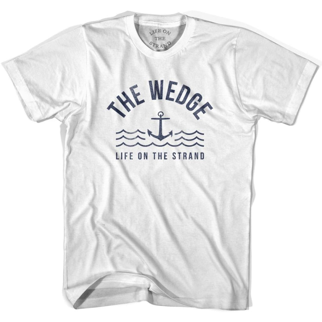 The Wedge Anchor Life on the Strand T-shirt - White / Youth X-Small - Life on the Strand Anchor